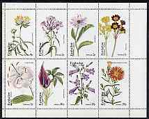 Eynhallow 1974 Flowers #01 (Primula, Aster, Phlox, etc) perf set of 8 values (1p to 20p) unmounted mint