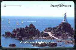 Telephone Card - Jersey 40 units phone card showing Corbiere Lighthouse