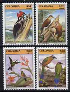 Colombia 1985 Birds complete set of 4 (from Fauna set) unmounted mint SG 1724-27