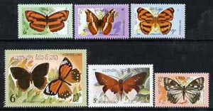 Laos 1982 Butterflies complete set of 6 unmounted mint, SG 552-57*