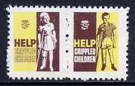 Cinderella - Canada 1958 Help Crippled Children Easter Seals, fine unmounted mint se-tenant pair