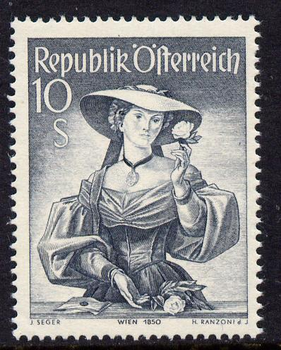 Austria 1948-51 Provincial Costumes 10s grey unmounted mint, SG 1144
