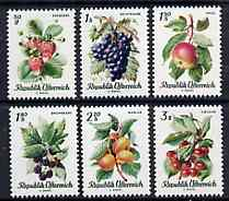 Austria 1966 Fruits complete set of 6 unmounted mint, SG 1485-90