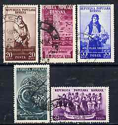 Rumania 1953 Rumanian Art complete set of 5 cto used, SG 2283-87, Mi 1430-34