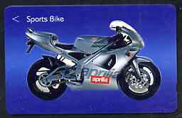 Telephone Card - Singapore $10 phone card showing Sports Motorcycle