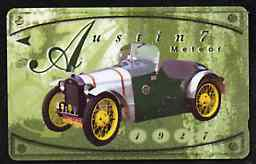 Telephone Card - Singapore $10 phone card showing 1921 Austin 7