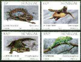 Senegal 1991 Reptiles set of 4 unmounted mint, Mi 1116-19, SG 1089-92*
