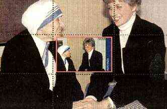 Abkhazia 1998 Mother Teresa souvenir sheet (with Princess Diana) unmounted mint