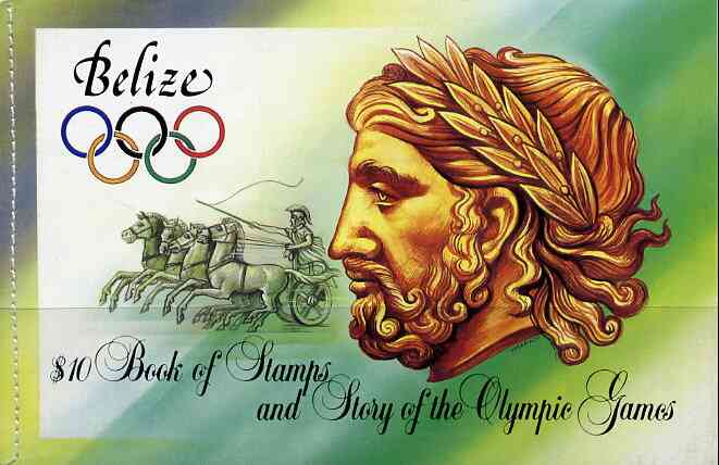 Booklet - Belize 1984 Olympic Games Los Angeles $10 booklet complete, SG SB5