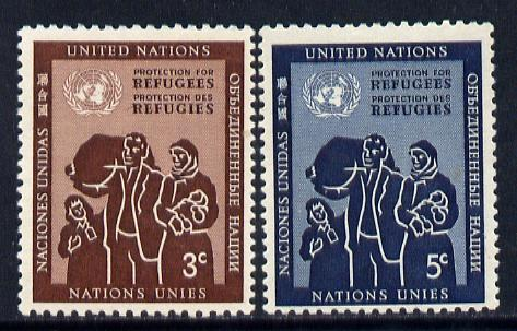 United Nations (NY) 1953 Refugees set of 2 unmounted mint (SG 15-16)