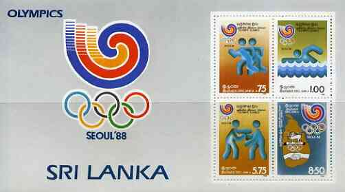 Sri Lanka 1988 Seoul Olympic Games perf m/sheet unmounted mint, SG MS 1037