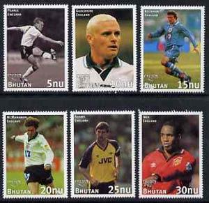 Bhutan 1998 English Football Players unmounted mint set of 6