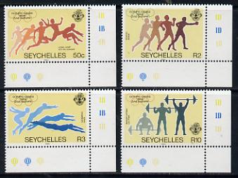 Seychelles 1984 Olympic Games set of 4 unmounted mint, SG 592-95