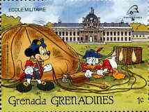 Grenada - Grenadines 1989 Mickey & Donald Inflating Balloon 1c from Walt Disney Philexfrance set, SG 1145 unmounted mint