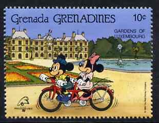 Grenada - Grenadines 1989 Mickey & Minnie on Tanden 10c from Walt Disney Philexfrance set unmounted mint, SG 1150