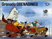 Grenada - Grenadines 1988 Goofy & Donald Duck in Horse Race 10c from Walt Disney Olympic Games set, SG 938 unmounted mint