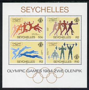 Seychelles 1984 Olympic Games m/sheet unmounted mint, SG MS 596