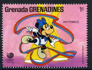 Grenada - Grenadines 1988 Minnie Mouse as Gymnast 1c from Walt Disney Olympic Games set unmounted mint, SG 933