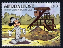 Sierra Leone 1980 Mickey Mouse at Bauxite Mine 3L from Walt Disney