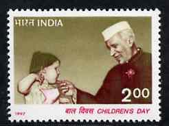 India 1997 Children's Day (Nehru) unmounted mint, SG 1753*
