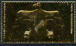 Staffa 1979 Treasures of Tutankhamun  \A38 Pendant from Vulture Necklace embossed in 23k gold foil (Rosen #644) unmounted mint