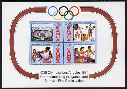 Samoa 1984 Los Angeles Olympic Games m/sheet unmounted mint, SG MS 682
