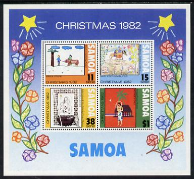 Samoa 1982 Christmas (Paintings) m/sheet unmounted mint, SG MS 633