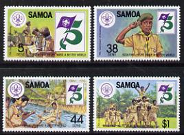 Samoa 1982 75th Anniversary of Scouting set of 4 unmounted mint, SG 620-23