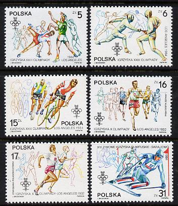 Poland 1984 Olympic Games set of 6 (SG 2928-33) unmounted mint