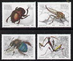 South West Africa 1987 Insects set of 4 unmounted mint, SG 475-78*