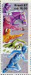 Brazil 1987 Pan-American Games 18cz Modern Pentathlon unmounted mint, SG 2273