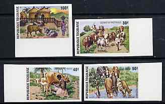 Togo 1974 Pastoral Ecomomy set of 4 imperf from limited printing unmounted mint, as SG 1042-45