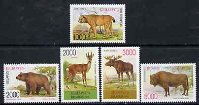 Belarus 1996 Mammals unmounted mint set of 5, SG 135-39*