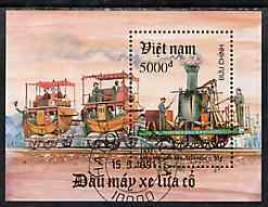 Vietnam 1991 Early Locomotives perf m/sheet fine cto used, SG MS 1585