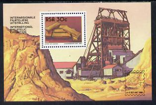 South Africa 1986 'Johannesburg 100' Stamp Exhibition m/sheet unmounted mint, containing SG 607