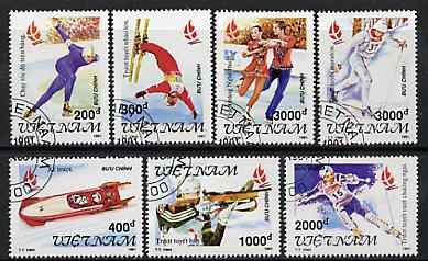 Vietnam 1991 Albertville Winter Olympic Games complete perf set of 7 fine cto used, SG 1607-13*