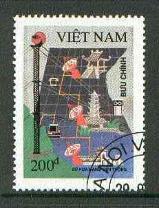 Vietnam 1991 Posts & Telecommunications Research fine cto used, SG 1636*
