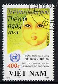 Vietnam 1991 United Nations Convention on Children fine cto used, SG 1590*