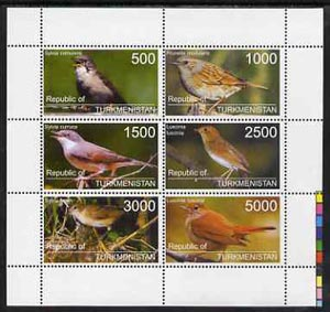 Turkmenistan 1998 Birds perf sheetlet containing complete set of 6 values unmounted mint