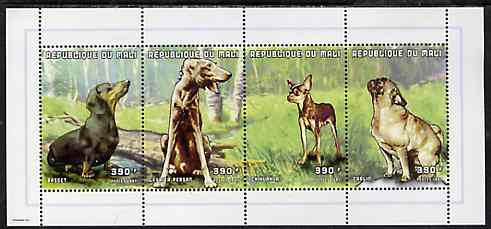 Mali 1997 Dogs perf sheetlet containing complete set of 4 values unmounted mint, Yv1132-35