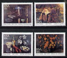 South Africa 1985  Paintings by Frans Oerder set of 4 unmounted mint, SG 577-80