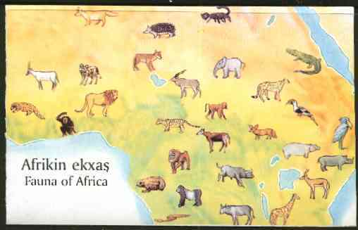 Booklet - Chechenia 1998 African Fauna booklet complete and pristine