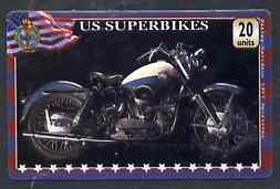 Telephone Card - US 'Superbikes' 20 units phone card showing Harley-Davidson 1957 Sportster
