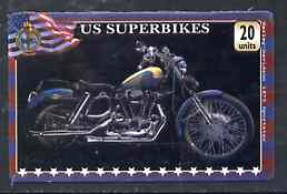 Telephone Card - US 'Superbikes' 20 units phone card showing Harley-Davidson 1973 Sportster