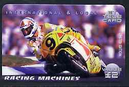 Telephone Card - ET �2 Limited Edition phone card - Racing Machines #1