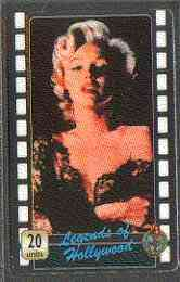 Telephone Card - Legends of Holllywood #06 - 20 units phone card showing Marilyn Monroe (colour half-length)