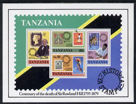 Tanzania 1980 Rowland Hill m/sheet unmounted mint SG MS 287