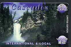 Telephone Card - ET 'Cascades #1' �2 Limited Edition tele card showing Waterfall