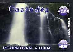 Telephone Card - ET 'Cascades #2' �2 Limited Edition tele card showing Waterfall