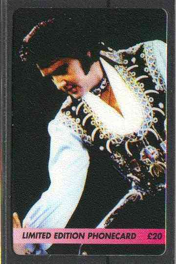 Telephone Card - Elvis Presley #1 - Limited Edition �20 discount phone card
